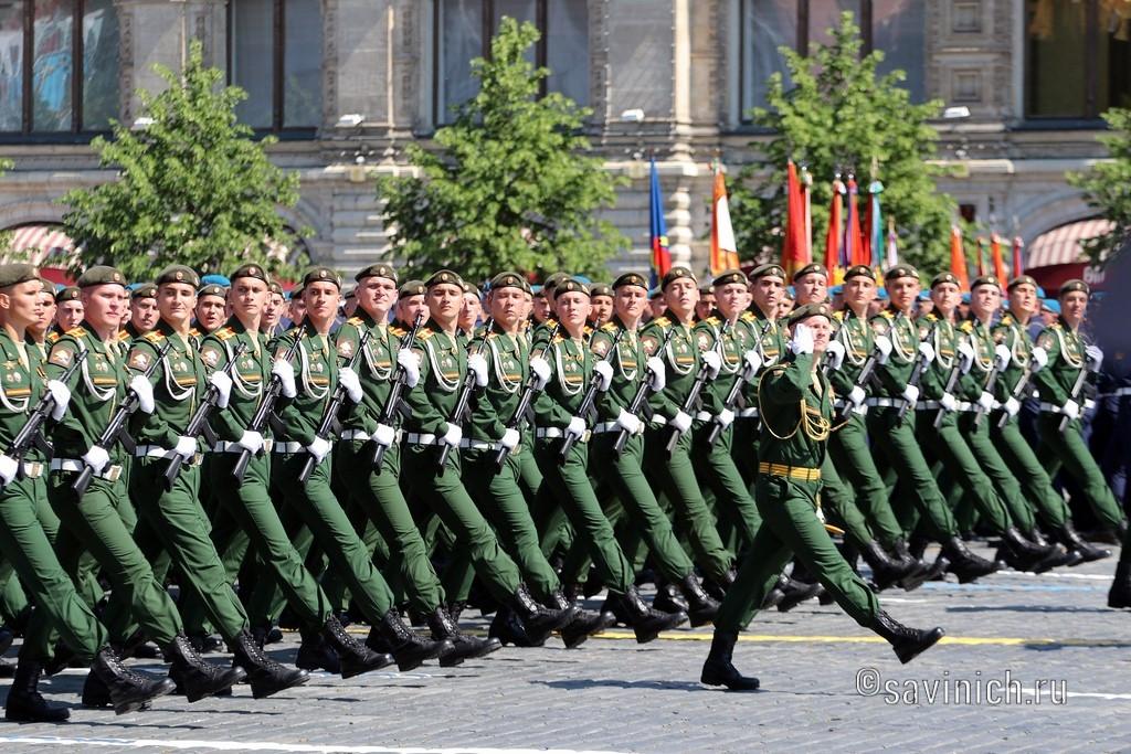 Парад Победы 2020.Москва .Военный университет Министерства обороны Российской Федерации