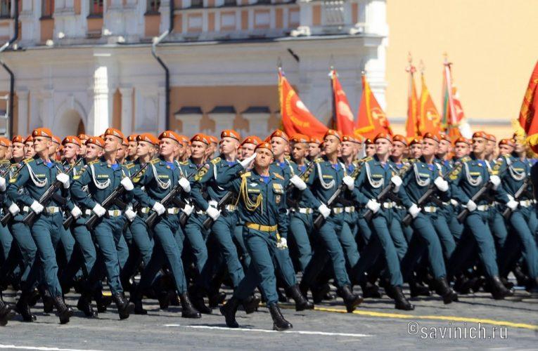 Парад Победы 2020.Москва. Батальон МЧС России