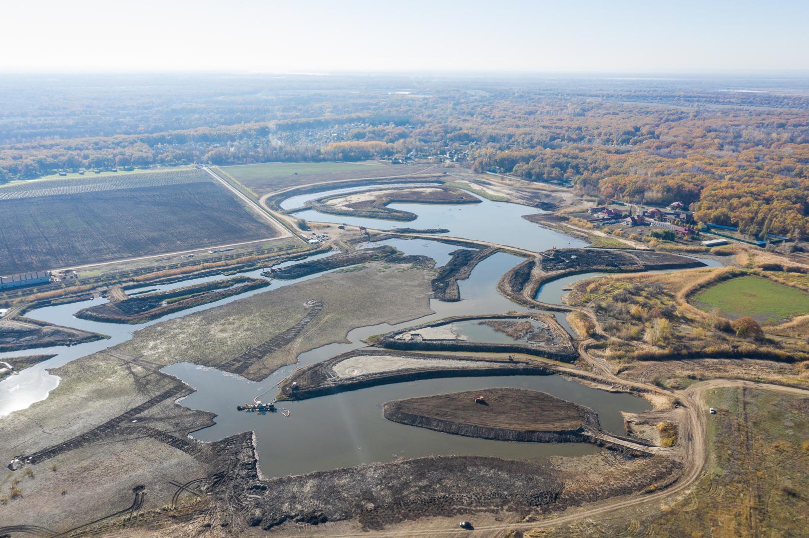В Волго-Ахтубинской пойме завершается строительство очередного гидротехнического сооружения